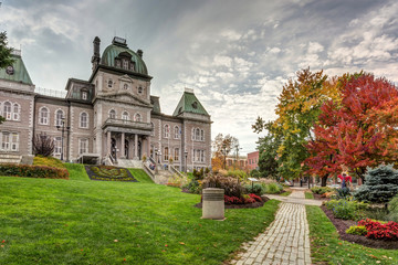 Sherbrooke city Town Hall in Autumn