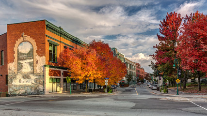 Downtown Sherbrooke's Wellington Street North in Autumn