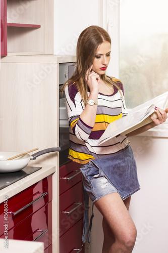 Sexy woman cooking, playboy bigbutt