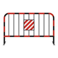 Steel barrier icon, cartoon style