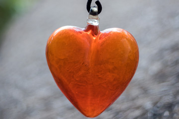 glass valentine heart lovers symbol