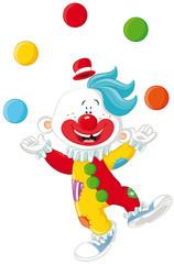 Lustiger Clown Vektor-Illustration