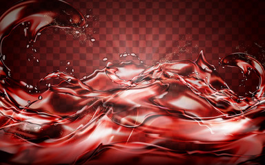 red liquid flow