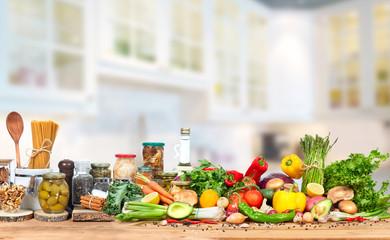 Food on the kitchen