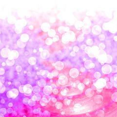 Bokeh Vibrant Red Pink Background With Blurry Lights