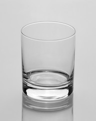 Empty glass for water isolated white background