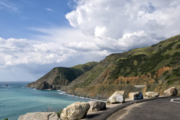 Highway 1 Drive along the Pacific Ocean in California