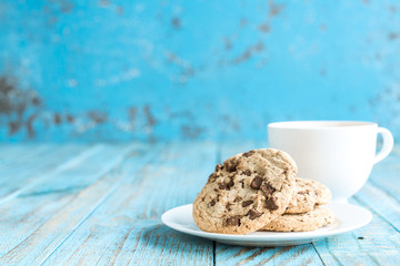 cookies on a wooden background.