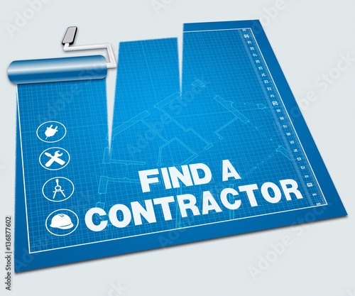 Find A Contractor Shows Builder Search 3d Illustration