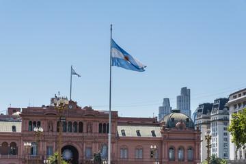 Presidential Palace Casa Rosada (Pink House) on Plaza de Mayo, Buenos Aires, Argentina