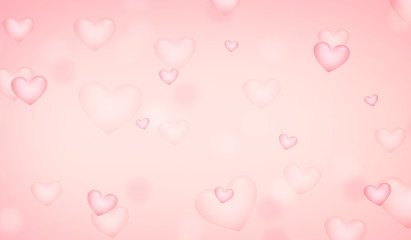 hearts female colored background