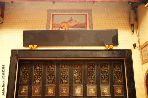 Temple Wall Panels : Quot wooden temple wall panel stock photo and royalty free