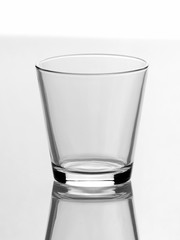 Empty glass for water isolated on white background