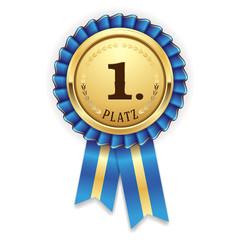 Goldene Medallie für den 1. Platz