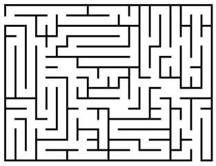 Kids riddle, maze puzzle, labyrinth vector illustration