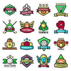 Sport games icons vector templates