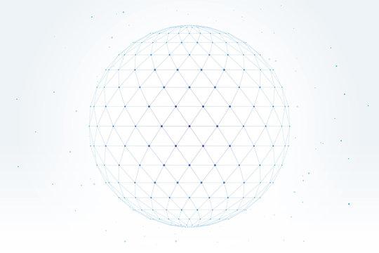 ポリゴン デザイン 球体