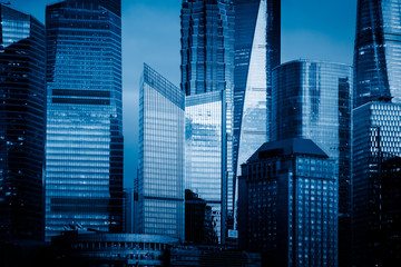 landmarks of Shanghai,group of modern business buildings.