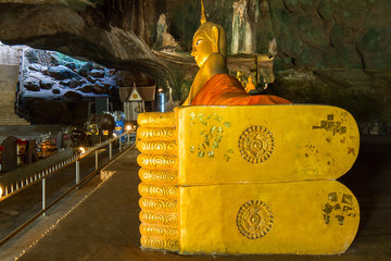 Suwannakuha temple(cave temple), one of tourist attraction in the south of Thailand, Phangnga province, Thailand