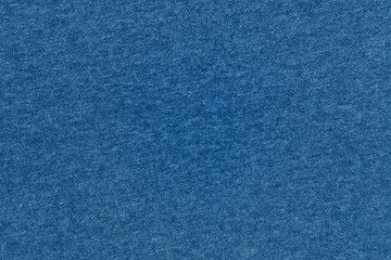 textured background of knitted fabric blue color