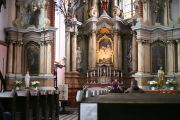 interior of the church