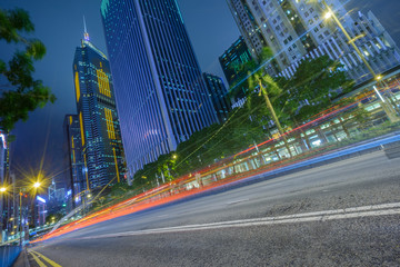 Traffic road in downtown of Shenzhen,China.