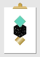 Geometric Shapes Poster
