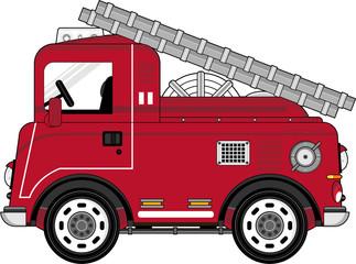 Cute Cartoon Fire Truck