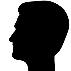 Edward Snowden asylum in Russia, silhouette left profile