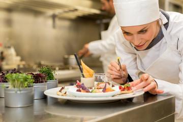 chef preparing starter