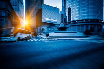 urban road through modern city-Shanghai,China.