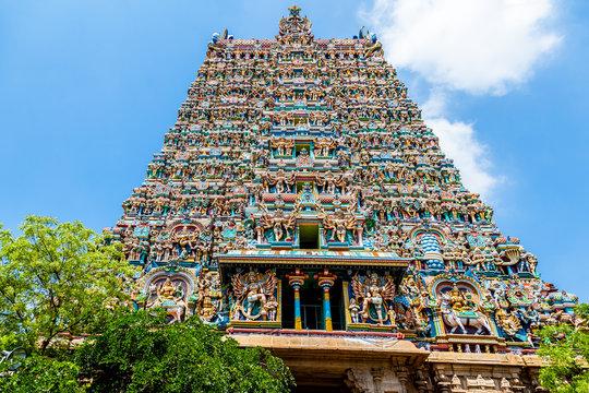 Hindu temple, Meenakshi, Madurai, Tamil Nadu, India