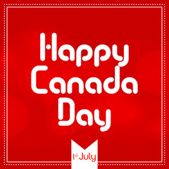 Canada Day Abstract with creative design illustration.