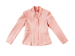 Pink jacket isolated on white Wall mural