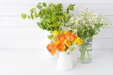 ブプレリューム チューリップ マトリカリア 春の花