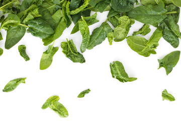 Fresh spinach leaves.