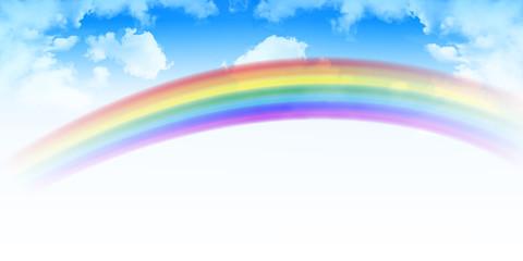 空 虹 雲 背景