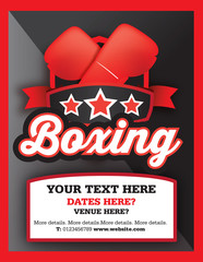 boxing club, event or match advert style poster