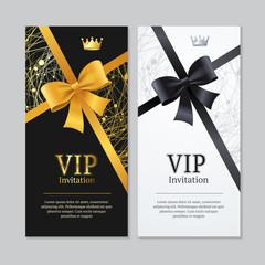 Vip Invitation and Card Set. Vector