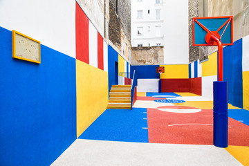 Pigalle's basketball court in Paris