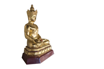 Buddha statue on white background. Clipping path