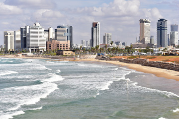 Tel Aviv Coastline as viewed from Jaffa in the South