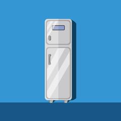 refrigerator in flat design