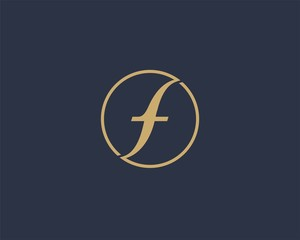 Letter F logo icon design template elements. Abstract design for fashion Business.