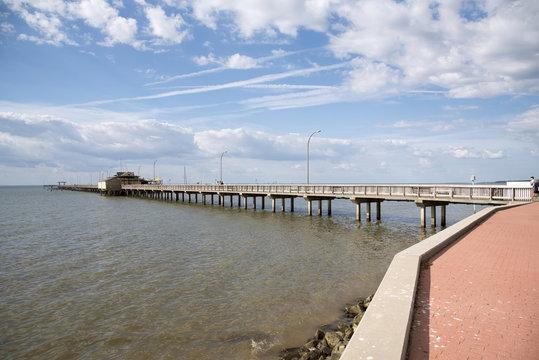 Fairhope Pier on Mobile Bay in Baldwin County Alabama USA.