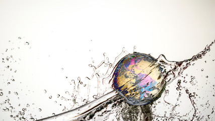 Crystal Ball Earth Splash