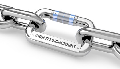 Arbeitssicherheit / Chain / Metal / 3d
