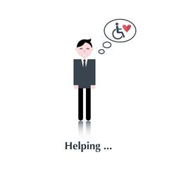 Volunteer man icon
