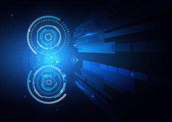 Futuristic technology HUD vector background, techno circle, sci-fi background. Eps10