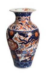 vaso cinese originale su fondo bianco